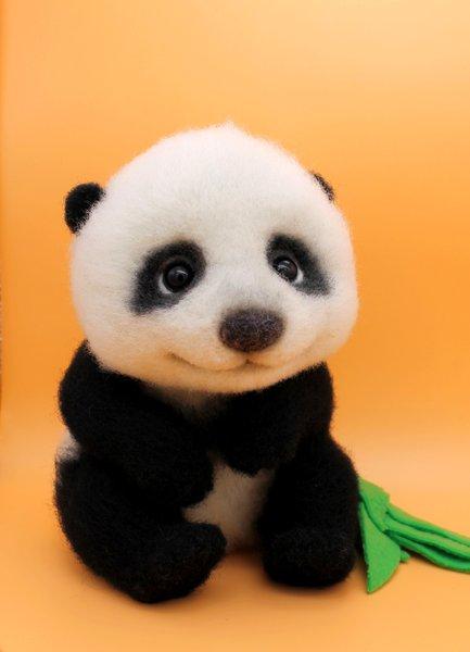 Felted Animals Dry Felting From Wool Sheep Fox Panda Hedgehog Kitten Fawn Doll