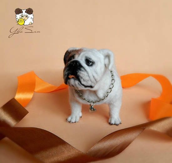 English bulldog miniature by Yka Sun